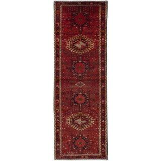 """Gharajeh Vintage Persian Rug, 3'6"""" x 10'10"""""""