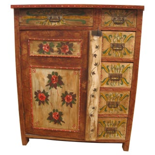 Painted Pennsylvania Dutch Cabinet
