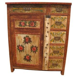 Painted Pennsylvania Dutch Cabinet
