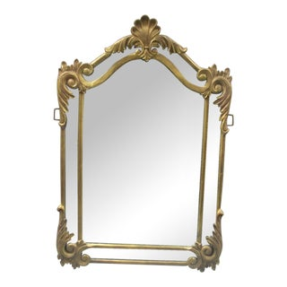 Rococo Metal Framed Beveled Mirror