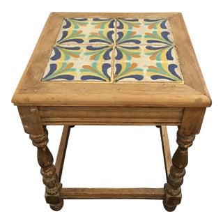 Vintage Monterey Tile Side Table