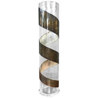 Lino Sabattini Silverplate-Wrapped Crystal Vase
