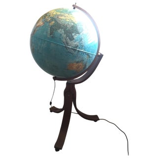 "1982 Rand McNally 24""Geoscope World Globe"