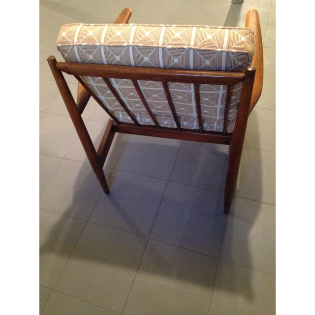 Image of Danish Modern Chairs With Dwell Studio Upholstery