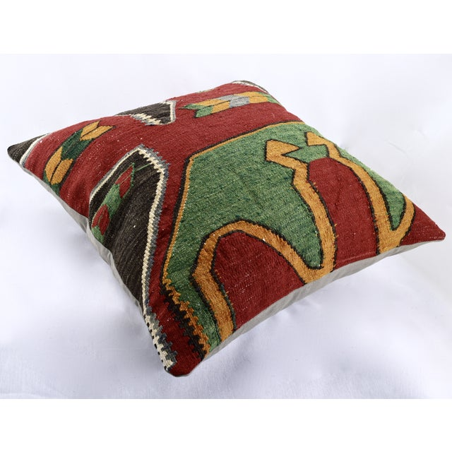 Oversized Kilim Accent Pillow - Image 3 of 8