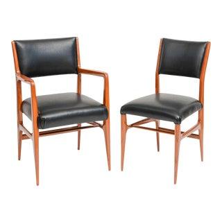 Fine Set of 12 Italian Modern Dining Chairs, Gio Ponti