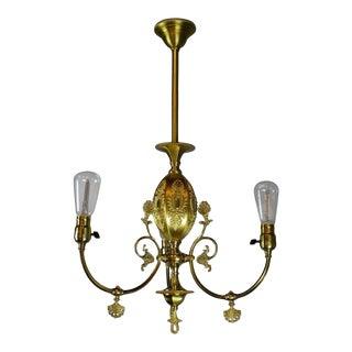R. Williamson & Co. (Chicago) Decorative Victorian Converted Gas Fixture (3-Light)