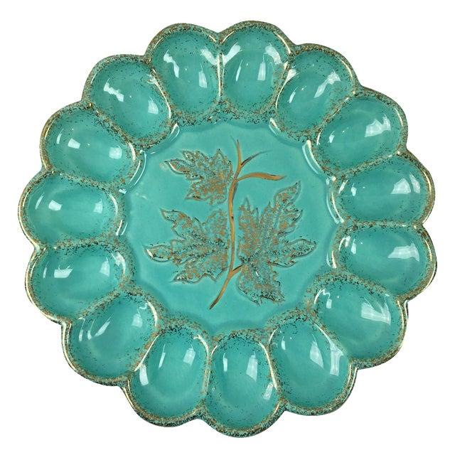 Mid-Century Ceramic Deviled Egg Plate - Image 1 of 6