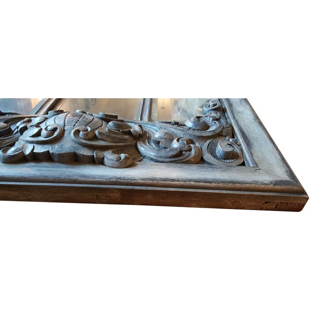 Antique Chateau Floor Mirror - Image 4 of 7