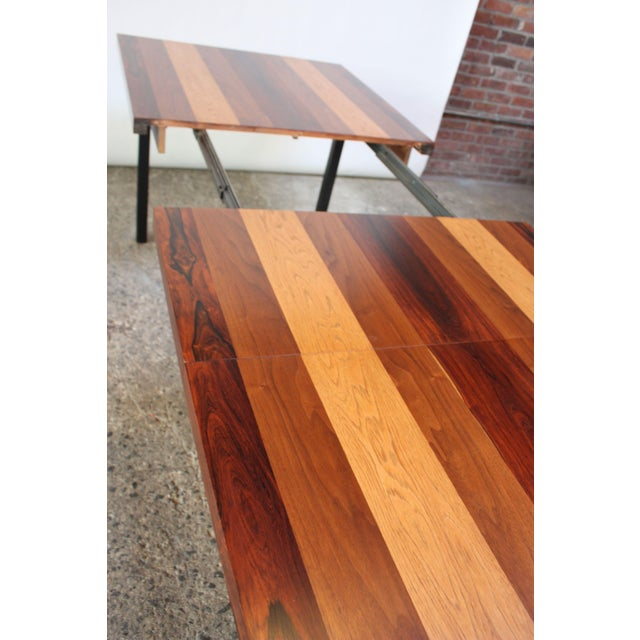 Directional Mixed-Wood Dining Table by Milo Baughman - Image 7 of 11