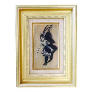 Antique Belle Epoch Oil Painting