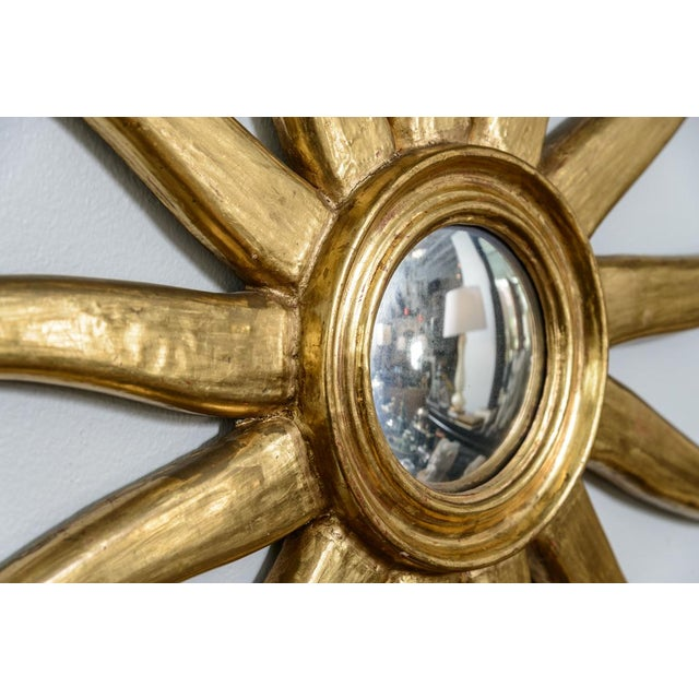 French Giltwood Sunburst Convex Mirror - Image 8 of 10