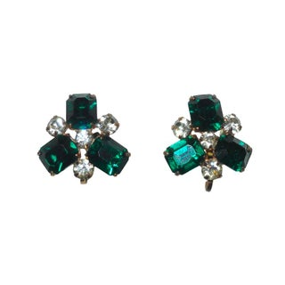 Vintage Emerald Green Earrings