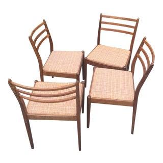 G Plan Mid-Century Ladderback Dining Chairs - Set of 4