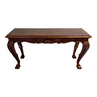 Chippendale Mahogany Inlaid Console Sofa Table