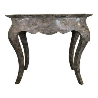 Transitional Tessellated Stone Console Table