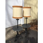 Image of Stone Table Floor Lamps- A Pair