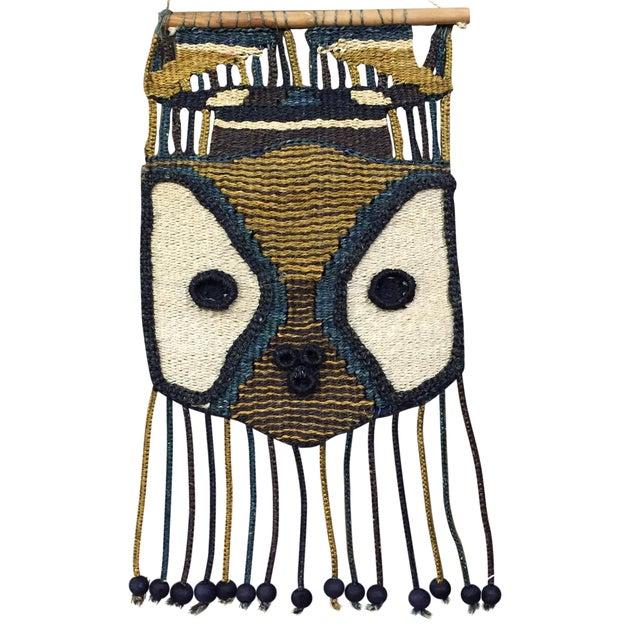 Don Freedman Style Boho Woven Owl Wall Hanging - Image 1 of 6