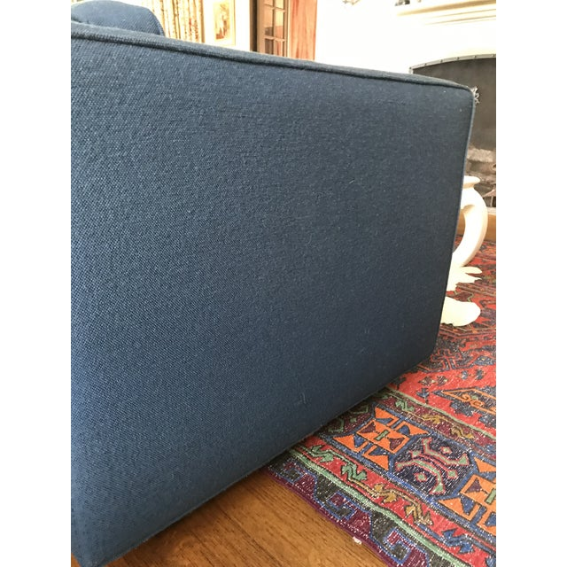 1970s Marden Mid-Century Blue Upholstered Sofa and Chair - Image 5 of 11