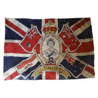 Queen Elizabeth 1953 Coronation Flag