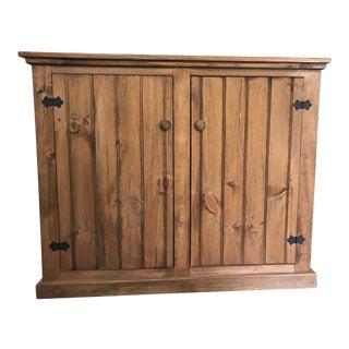 Finished Wood Narrow Buffet