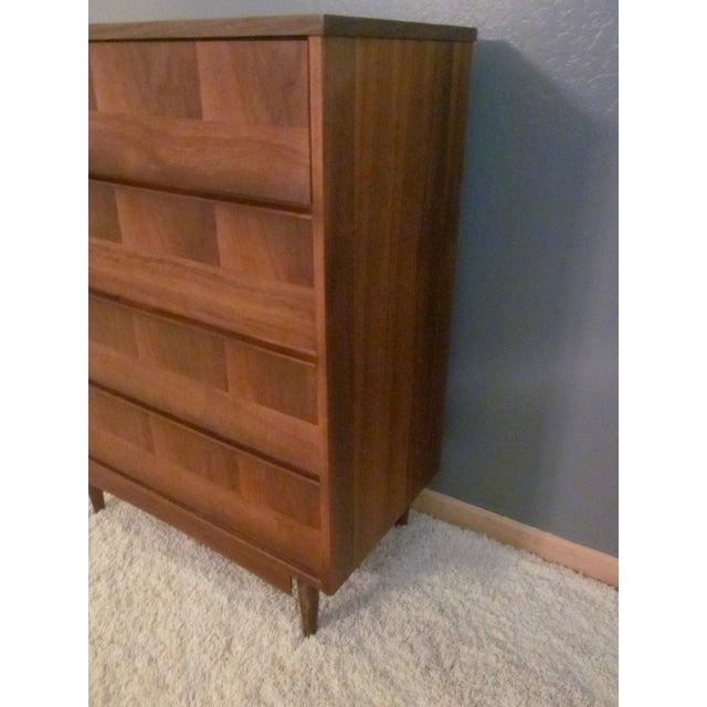 Image of Mid-Century Modern Highboy Dresser