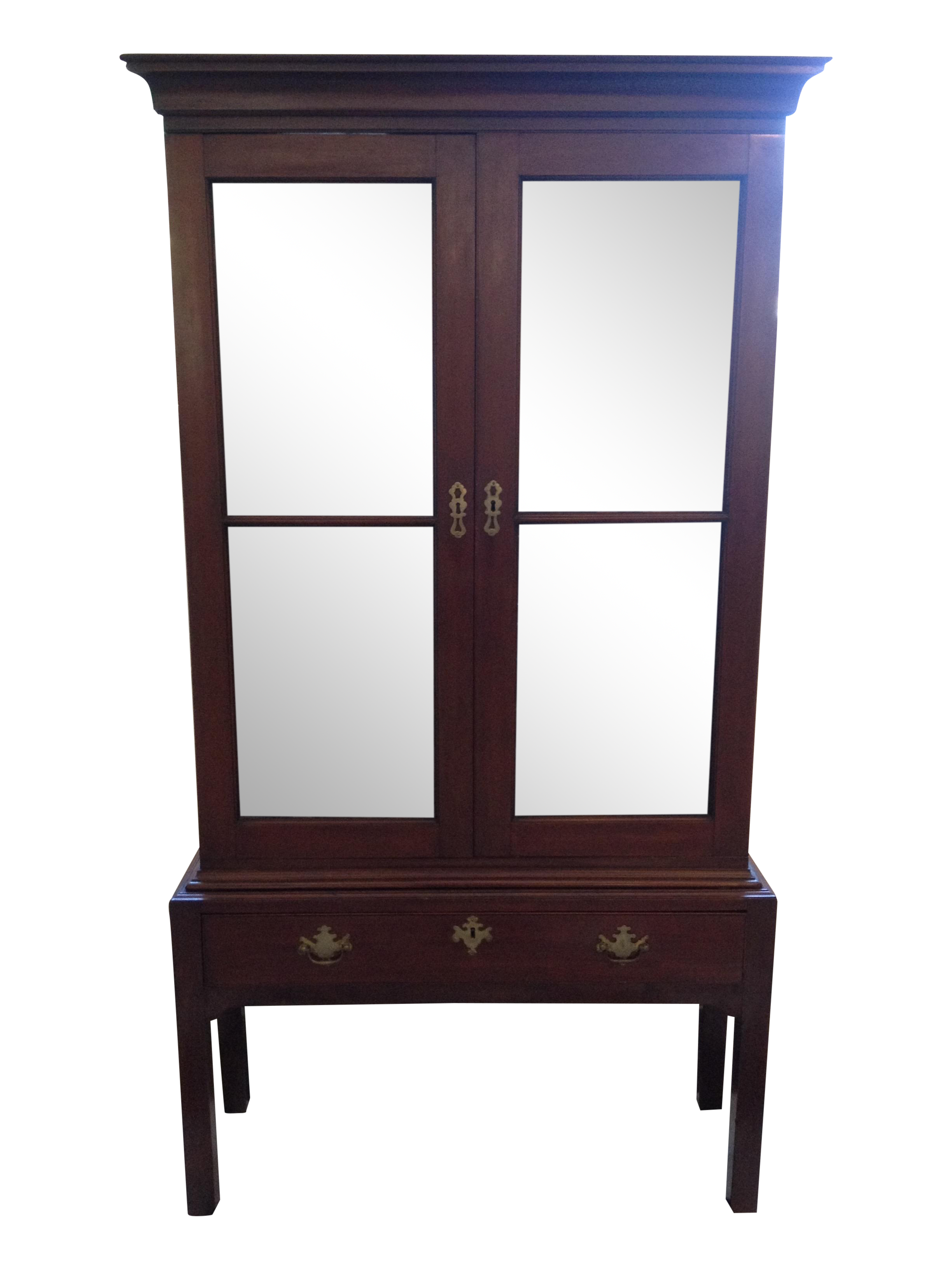 antique mahogany curio cabinet antique 19th century mahogany curio cabinet chairish 4113