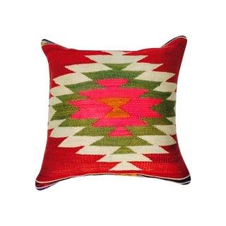 Red Turkish Kilim Pillow