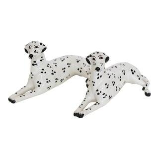 Italian Porcelain Dalmatian Figurines - A Pair