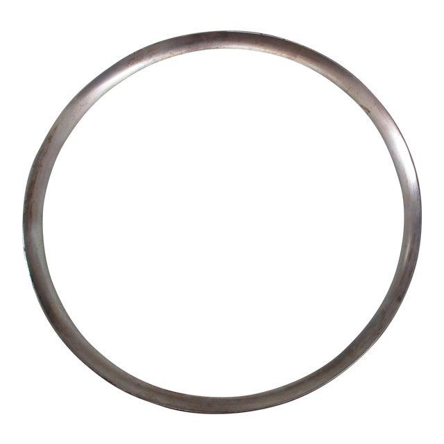 Dorothy Thorpe Mid-Century Glass Silver Rim Tray - Image 1 of 11