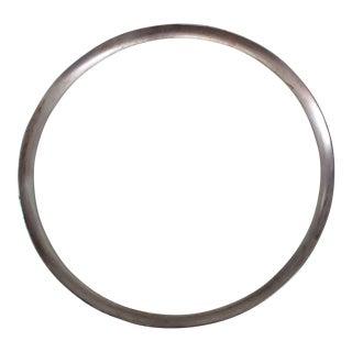Dorothy Thorpe Mid-Century Glass Silver Rim Tray