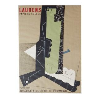 Vintage Henri Laurens Cubist Poster