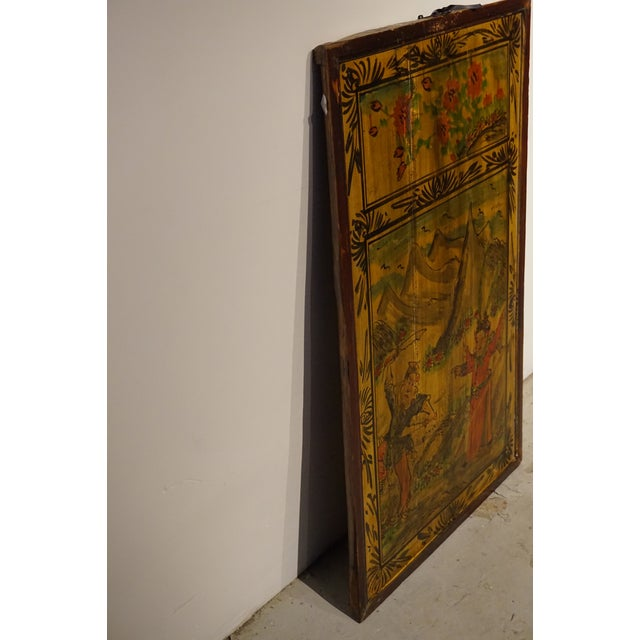 Chinese Painted Wood Panel - Image 5 of 5