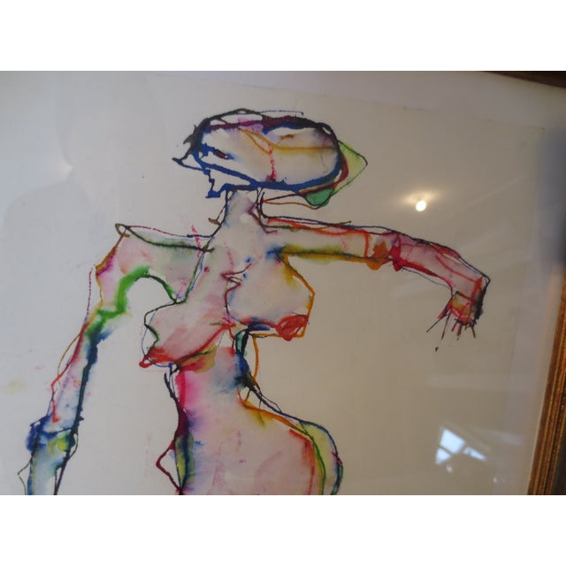 Martin Sumers Female Figure Study in Watercolor - Image 4 of 8