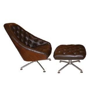 Milo Baughman Chair and Ottoman Set