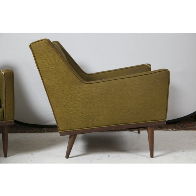 Image of Milo Baughman Vintage 1950s Green Chairs - A Pair