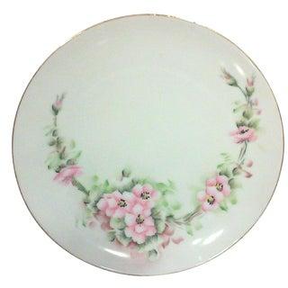 Bavarian Pink Rose Blossom Plate
