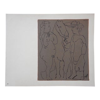 "Vintage Picasso Lithograph-""Picador Et Cheval"""
