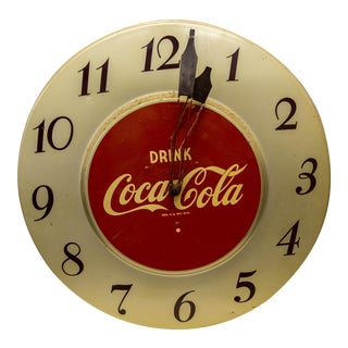 Vintage 'Drink Coca-Cola' Clock