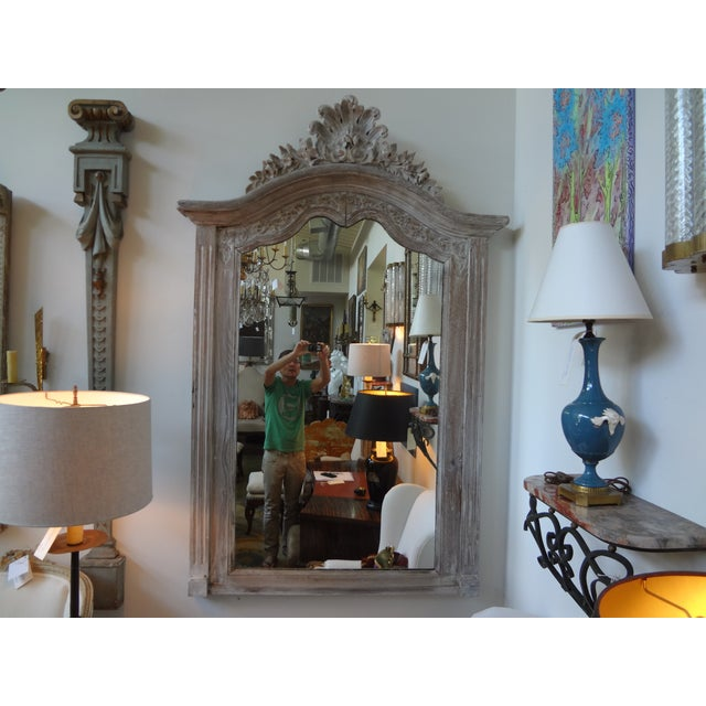Antique 19th C. French Louis XV Painted Mirror - Image 2 of 7