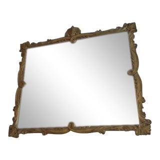 Hollywood Regency Ornate Gold Mirror