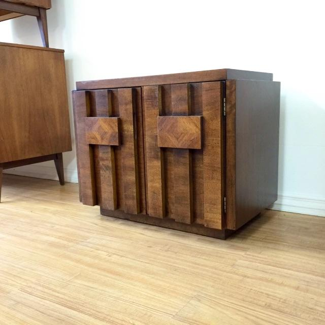 Brutalist End Tables by Lane - Pair - Image 4 of 6