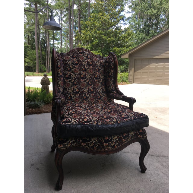 Old Hickory Tannery Peacock Tapestry Chair Chairish