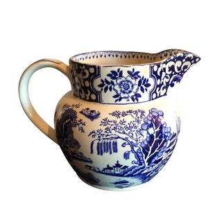 Vintage Blue & White English Country Pitcher