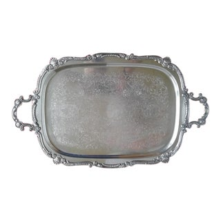 Supersized Vintage Traditional Silverplated Serving Tray