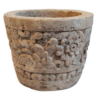 Stone Carved Garden Pot