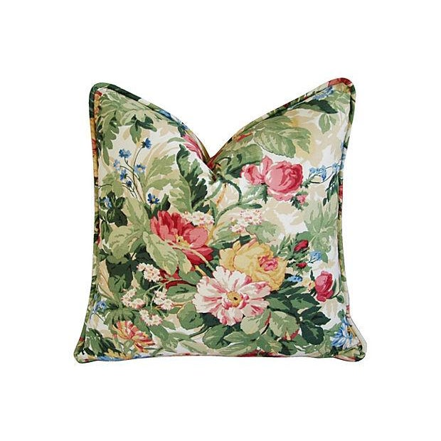 Custom P. Kaufmann Floral Bouquet Pillows - Pair - Image 2 of 8