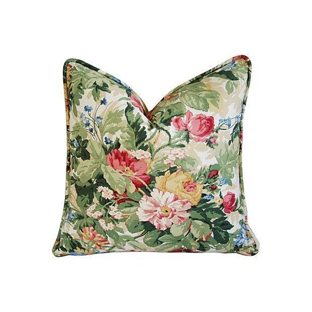 Image of Custom P. Kaufmann Floral Bouquet Pillows - Pair