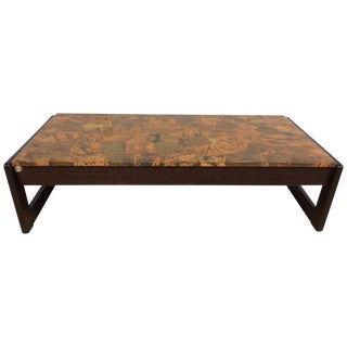 Percival Lafer Copper and Rosewood Coffee Table