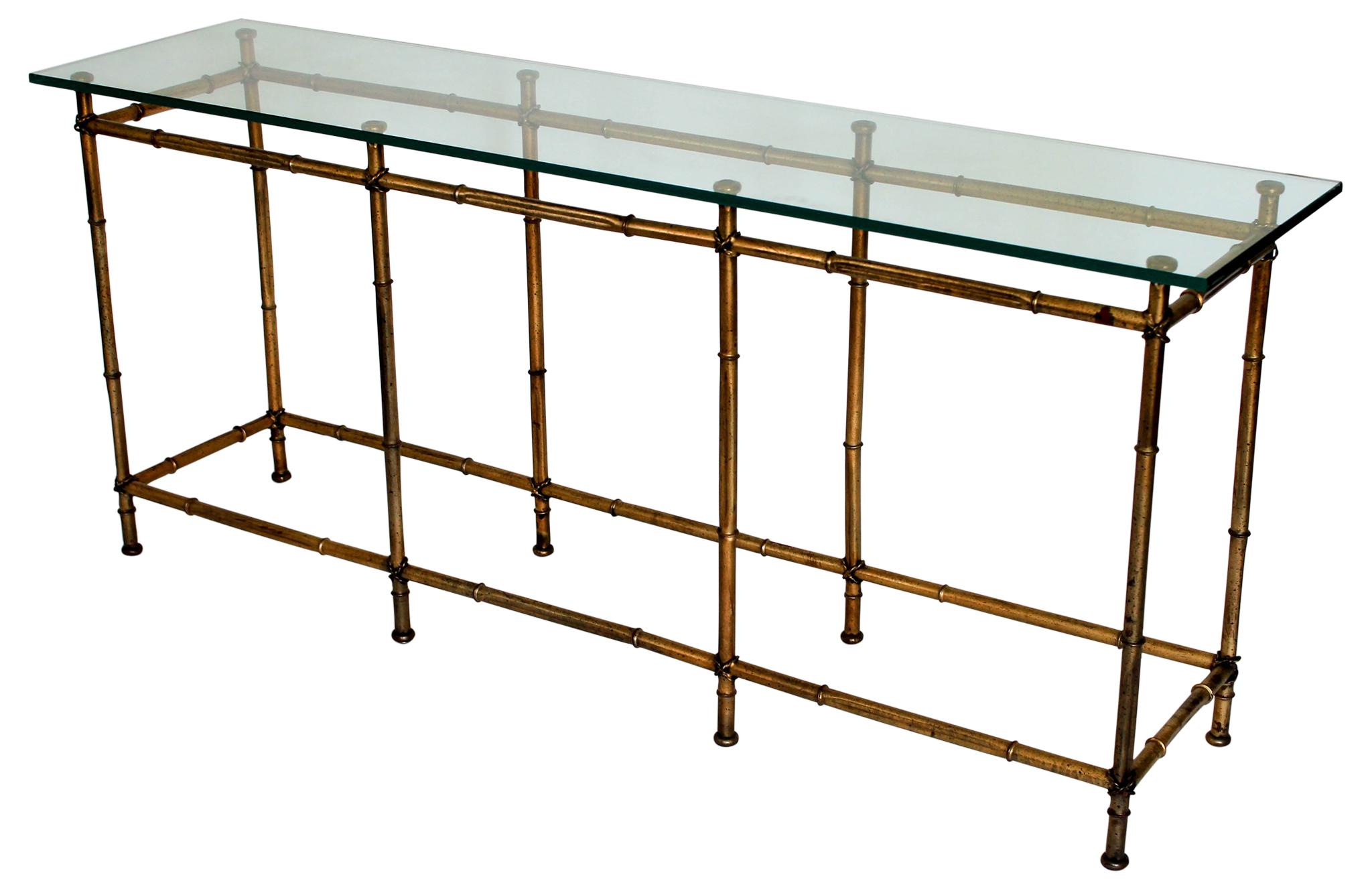 Faux Bamboo Console Table   Image 2 Of 6